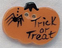 86033 - Trick Or Treat Pumpkin 1 1/8in x 3/4in - 1 per pkg